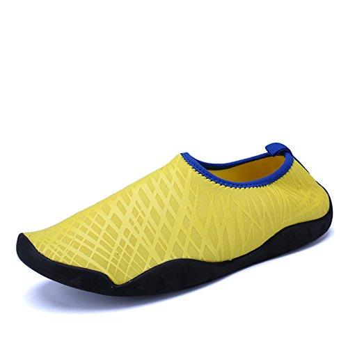 luz Piscina Amarillo buceo zapatos de snorkeling rápido libre pegada secado calzado aire calzado de playa al natación de antideslizante Lucdespo de seguridad piel vBwqFF