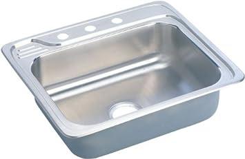 elkay ecc25224 4 hole gourmet 22 inch x 25 inch single basin drop elkay ecc25224 4 hole gourmet 22 inch x 25 inch single basin drop      rh   amazon com