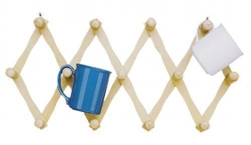 Fox Run Expanding Beechwood Coffee Mug Wall Rack (2)