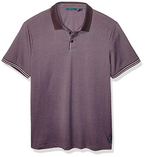 Perry Ellis Men's ICON Polo, Deep Violet-4ESK7103, Large