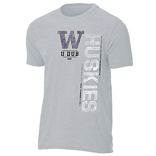 NCAA Washington Huskies Mens Vintage Sheer Short Sleeve Tee, Large, ()