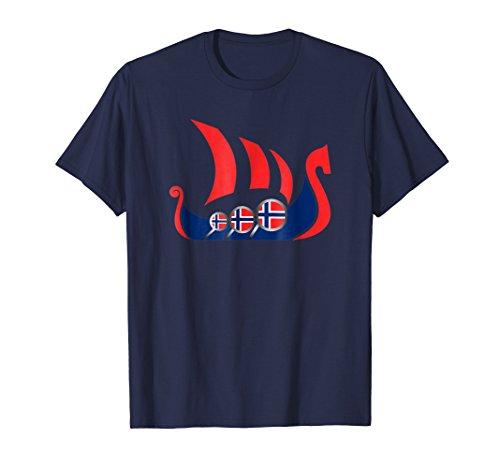Norway Viking Ship Shirt Norwegian Flag Dragon Boat T-Shirt ()