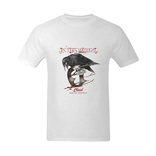 LittleArt Men's In This Moment Blood Cover T-Shirt - Fashion T Shirt US Size 4 -