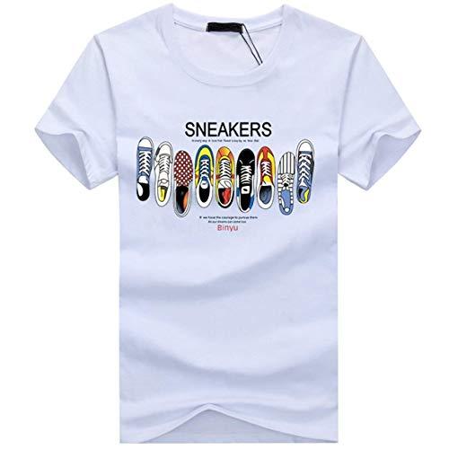 気取らない狐アラスカCHROME CRANE(クロム クレイン) メンズ プリント カジュアル 半袖 Tシャツ シューズ 柄 靴 デザイン シャツ TSP014