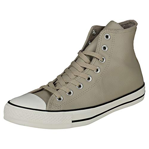 Converse Chuck Taylor All Star Tumbled Leather HIGH TOP Sneaker, Papyrus/egret, 8 M - Multi All Taylor Star Chuck Eyelet