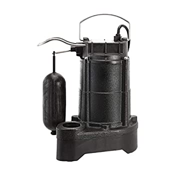 Image of AmazonCommercial 1/3 HP Cast Iron Submersible Sump Pump with Mechanical Float Switch Home Improvements