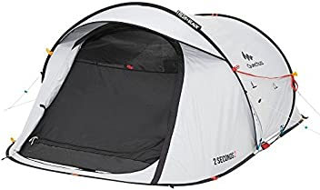 Quechua Waterproof Pop Up Camping Tent 2 Seconds Fresh & Black Easy Set Up and Fold