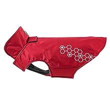 RC Pet Products Venture Outerwear Fleece Lined, Reflective, Water Resistant Dog Coat, Size 8, Crimson