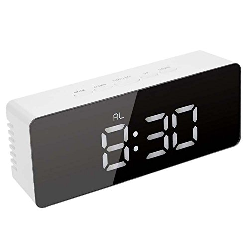 BaiMoon Alarm Clock Rectangle Square Digital Clock Multi Function Noiseless LED Clock Night Light Home decor by BaiMoon