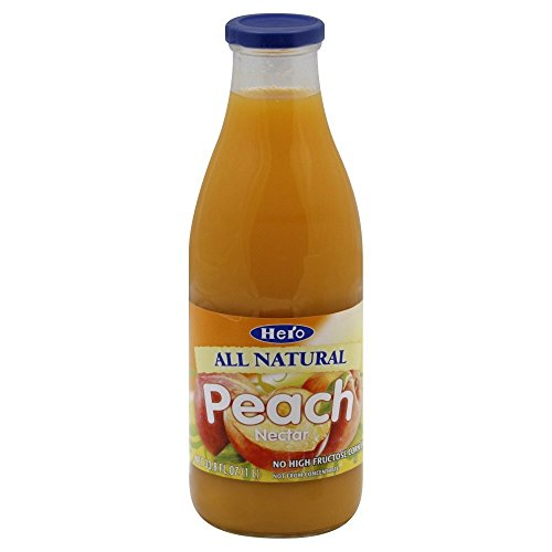 Hero Peach Nectar, 33.8 Ounce - 6 per case.