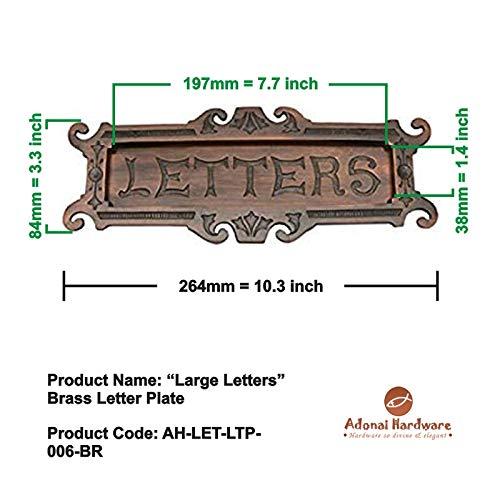 Adonai Hardware Large Letters Decorative Brass Letter Plate (Antique Brushed Nickel) by Adonai Hardware (Image #4)