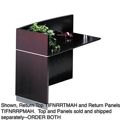 Mayline Napoli Series Reception Desk Return Panel, 48w x 25-1/2d x 29-1/2h, Mahogany (MLNNRRPMAH) Category: Wood Desks