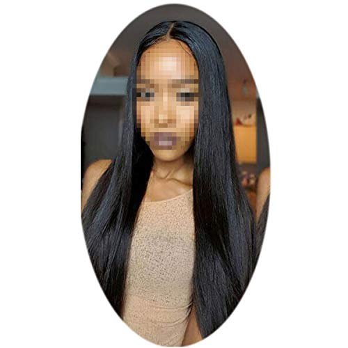 (Short Lace Front Human Hair Wigs For Black Women Remy Brazilian Straight Lace Wig Pre Plucked With Baby)