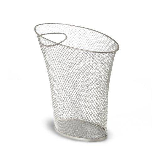 Umbra Nickel Trash Can (Umbra Skinny Metal Mesh Waste Bin, 2 Gallon (7.5L), Nickel)