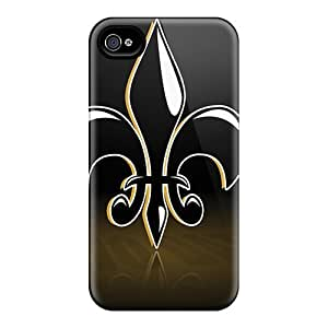 Awesome New Orleans Saints Flip Cases With Fashion Design For Iphone 4/4s