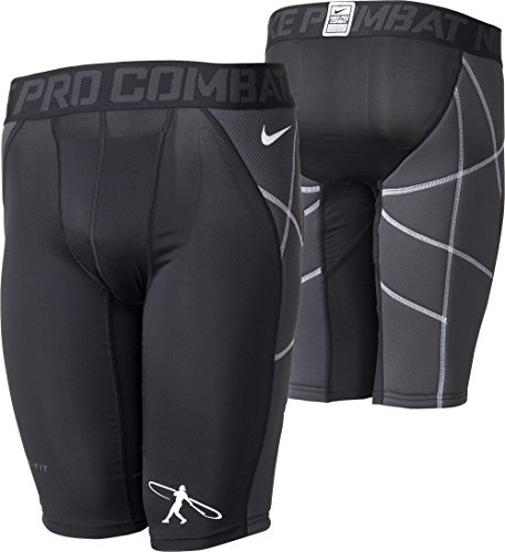 Nike Boys Pro Hyperstrong Swingman Heist Slider-Compression Baseball Shorts (Small) Black ()