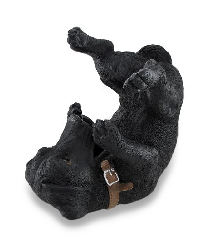 Things2Die4 Black Lab Wine Holder Bottle Display Sculpture (Wine Holder Dog)
