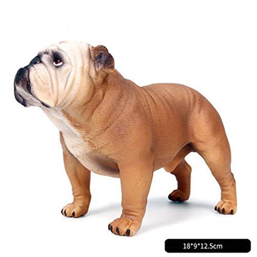 (AINIYF Bulldog - Collectible Statue Figurine Figure Puppy Model Dog Sculpture,Realistic Large Bulldog Figurines/7.08x3.54x4.9inches (Color : B))