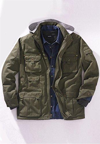 Boulder Creek Men's Big & Tall Multi-Pocket Lined Twill Jacket