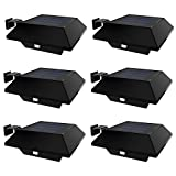 Solar Lights, LTY Solar Gutter Lights, Solar Powered Waterproof Security Lamp, 12 LED Cold White Light, for Outdoor Garden, Fence, Dog House, Outside Garage Door, Wall, with (6 PCS) (Black)