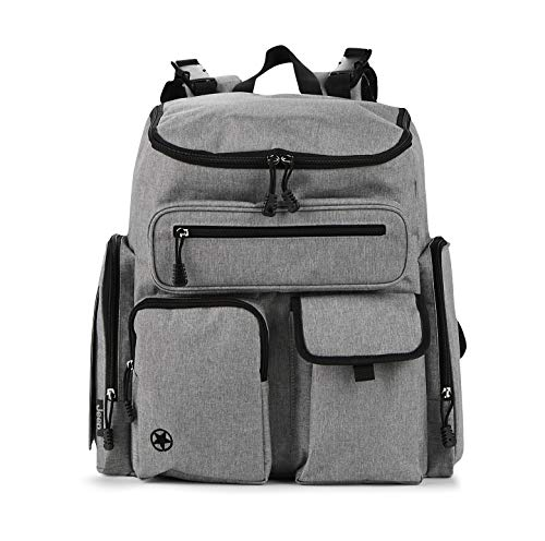 Jeep Adventurers Diaper Backpack Crosshatch, Heather Grey