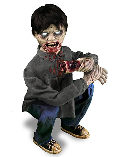 Zombie Boy Limb Eater Animated Decoration -