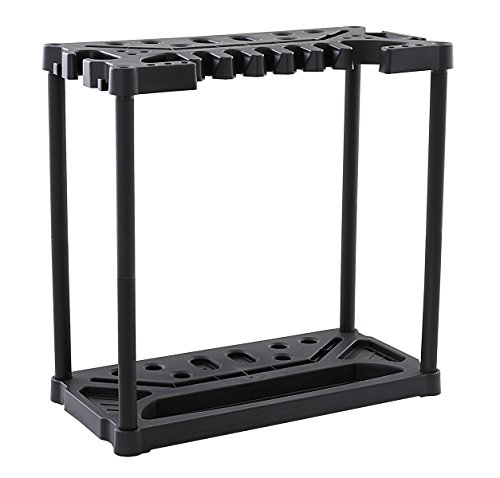 Keter Compact Long or Short Handled Tool Storage Rack, Holds 40 Tools