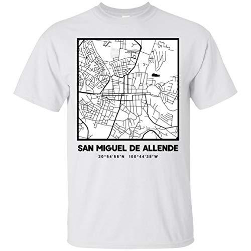San Miguel de Allende City Map Ultra Cotton T-Shirt White/S