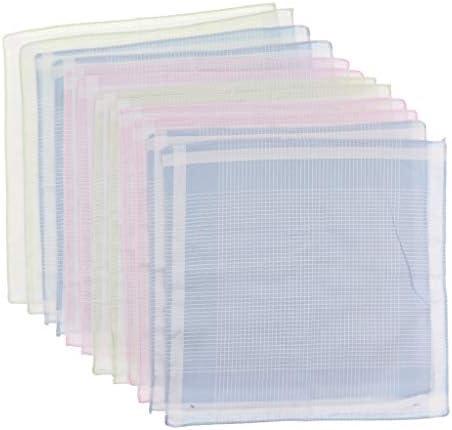 ハンカチ メンズ レディース チェック柄 コットン ポケットハンカチ ポケット 12枚セット