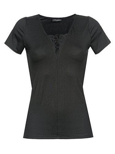 Vive Maria été Noir Shirt Schwarz Allover-Print