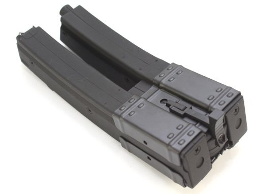 MP5 560 rds Dual Magazine for Airsoft Marui Standard AEG MP5K MK5 MP5A3 MP5A4 MP5A5 (Long) C37 [For Airsoft Only]