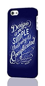iPhone 5C 3d Case ~ Quotes About Design Inspiration ~ ABCone Personalized Custom iPhone Plastic Phone Case Back 3D Rough Diy Cover for Iphone 5C