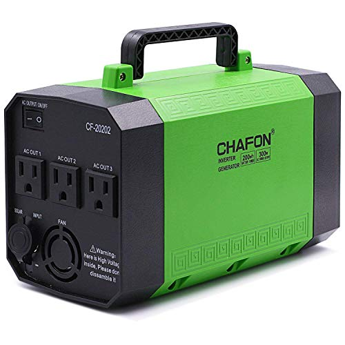 [Upgraded] CHAFON 200Wh Portable Generator Power Station Rechargeable CPAP Battery Pack Inverter with 110V/250W AC Outlet,DC 12V, USB Ports for Camping Emergency