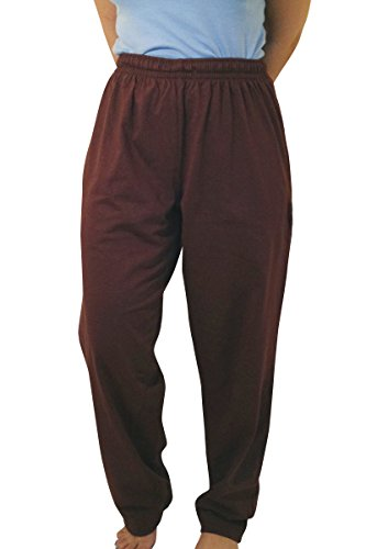 100% Egyptian Cotton Lounge Pants (For Both Men And Women) - Chocolate (2X-Large)