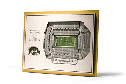YouTheFan NCAA Iowa Hawkeyes 5 Layer Stadiumviews 3D Wall Art, 17
