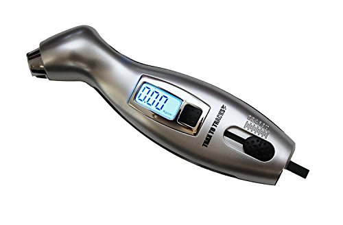 Digital Tire Pressure Gauge & Tread Depth Gauge – For Car Motorcycle Truck Auto RV Bicycle. Accurate, Large, Easy to Read - Bright LCD Screen. Dual Use - DOUBLE VALUE - SAVE MONEY and LIVES Today!! (Gauge Digital Keychain Tire)