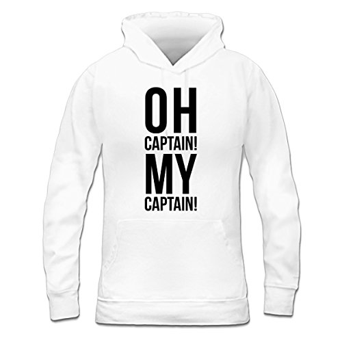 Sudadera con capucha de mujer Oh Captain My Captain by Shirtcity Blanco