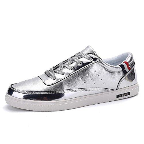 Uomo Scarpe da ginnastica Moda Tempo libero Formazione Scarpe sportive scarpe basse Silver
