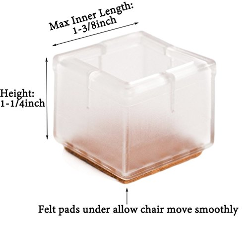 Limbridge chair leg wood floor protectors chair feet for Hardwood floors hurt feet