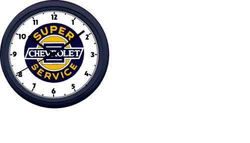 (SUPER CHEVROLET SERVICE WALL CLOCK-FREE USA SHIP)