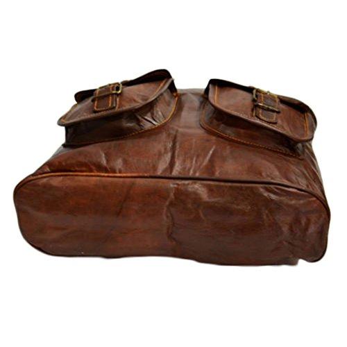 Mad Over Shopping, Sacchetto della borsa della spalla delle donne di acquisto Handcrafted dell'annata del cuoio genuino di Tote