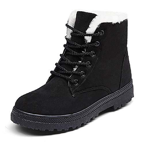 Martin Coreana Invierno Liangxie Boots Cálidas Botas Piso Mujer Negro Tamaño Y Grande Versión De Nieve Para Zapatos Algodón zqgwvBFq