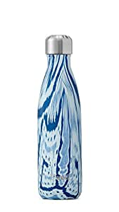 S'well Vacuum Insulated Stainless Steel Water Bottle, Double Wall, 17 oz, Santorini, Textile and Exotic Prints