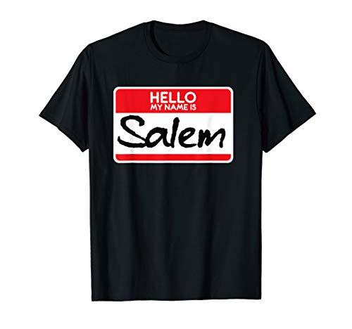 My Name Is Salem T-Shirt | Simple Halloween Witch Costume ()