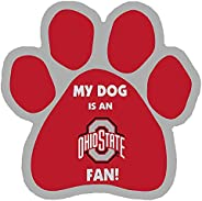 NCAA Ohio State Buckeyes Paw Print Car Magnet
