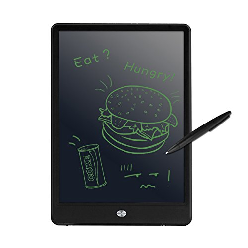 LCD Writing Tablet, M.Way 10.5 Inch LCD Drawing Board/ Message Board/ Screen Handwriting Pad Paperless Drawing Writing Tool Graffiti Board with Stylus and Stand for Kids, Family Memo, Office Writing