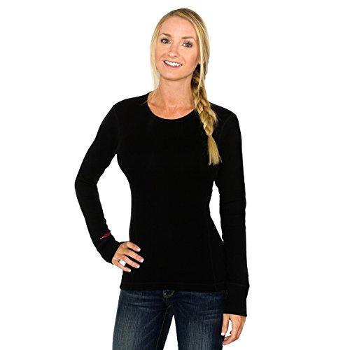 Woolx Women's Hannah Midweight Merino Wool Base Layer Shirt