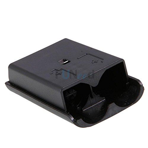 Battery Pack Cover Case Shell for Xbox 360 Game Controller Black (Pc With Clutch Wheel Steering)