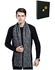 ORANGEEE Mens Super Soft Luxurious Cashmere Scarf With Gift Box
