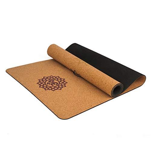Zhanwang17 Natural Rubber Yoga Mat,5MM Cork Yoga Blanket Anti-Slip Gym Pilates Sports Mats,18368CM